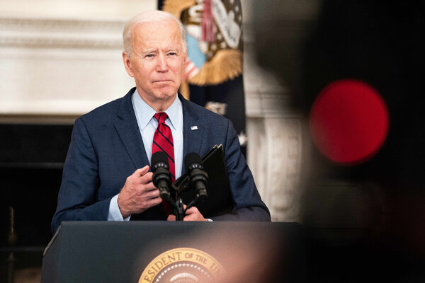 President Joe Biden speaking at the White House on Tuesday.