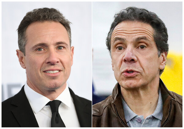The CNN anchor Chris Cuomo, left, and and his brother, Gov. Andrew M. Cuomo of New York.