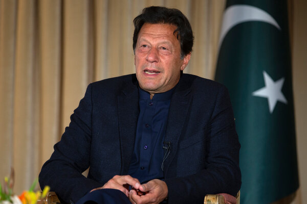 Prime Minister Imran Khan in Islamabad, Pakistan, last year. The government has imposed a ban on public gatherings, sports events and wedding ceremonies, starting in April.