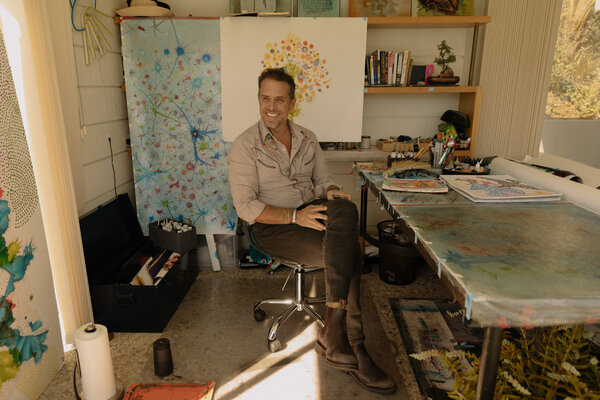 Hunter Biden in his art studio in Los Angeles in late 2019.