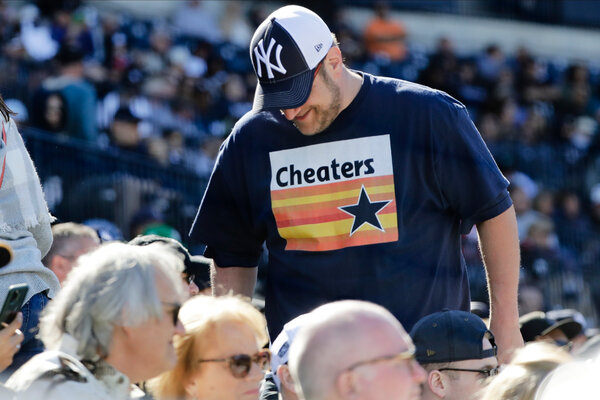 The Astros got a taste of fan outrage at spring training, both this year and the final, but on Thursday they would face hostile regular season crowds for the first time as their cheat scheme was revealed.