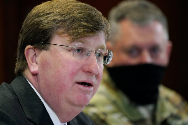 Gov. Tate Reeves of Mississippi in January.