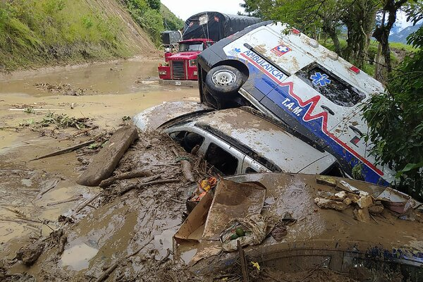 Landslides occurred in Belize due to heavy rains in November.