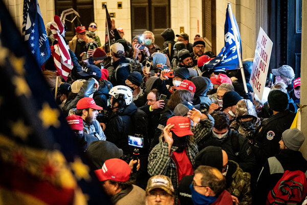 Supporters of President Donald J. Trump rioted inside the Capitol in January.