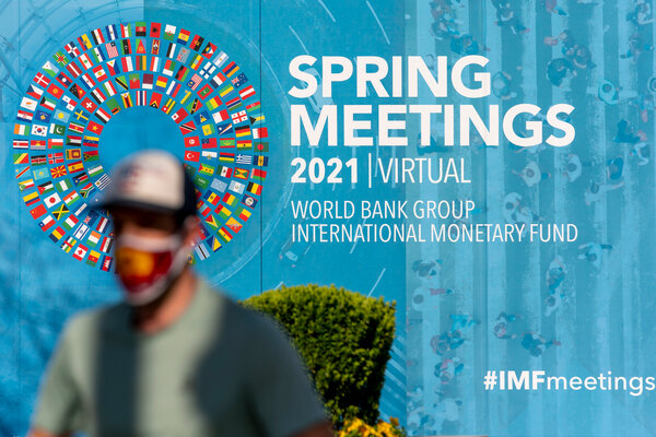 The I.M.F. forecast for global economic growth has climbed to 6 percent for the year.