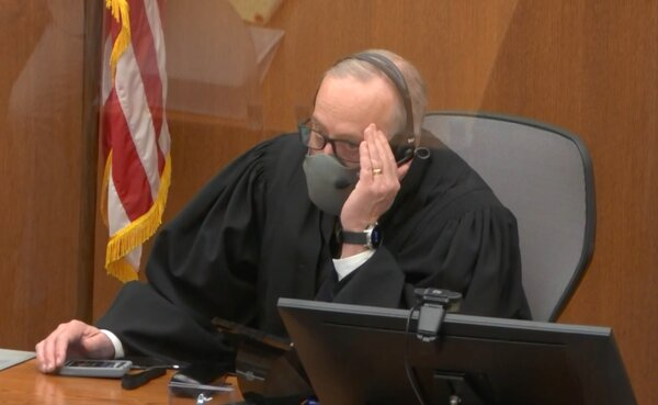 Judge Peter A. Cahill during former Minneapolis police officer Derek Chauvin's trial at Hennepin County District Court.