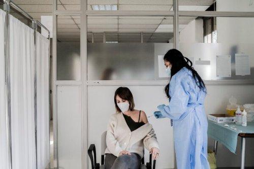 Administering the AstraZeneca vaccine in Milan last month.