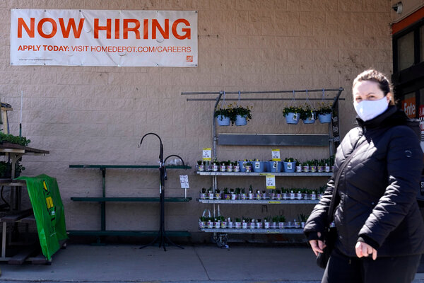 """A """"help wanted"""" sign at a Home Depot in Mount Prospect, Ill. Confidence about hiring in the U.S. economy is growing."""