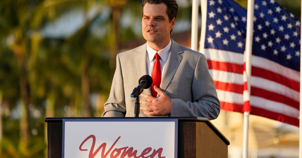 Matt Gaetz Tells Supporters He Is a Victim of Leaks and Lies