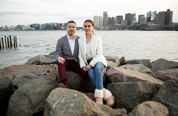 John Pham and Maryna Stasenko sold their three-bedroom home in Lawrence, Mass., and moved into a condo in Boston.