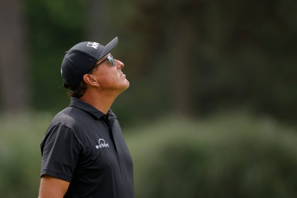 Phil Mickelson on the 3rd green during the final round.