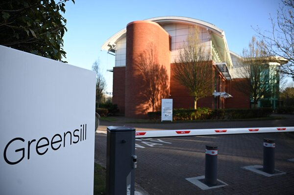 Greensill Capital's offices in Warrington, England. Since Greensill's collapse, Credit Suisse has paid .8 billion to investors in its funds.
