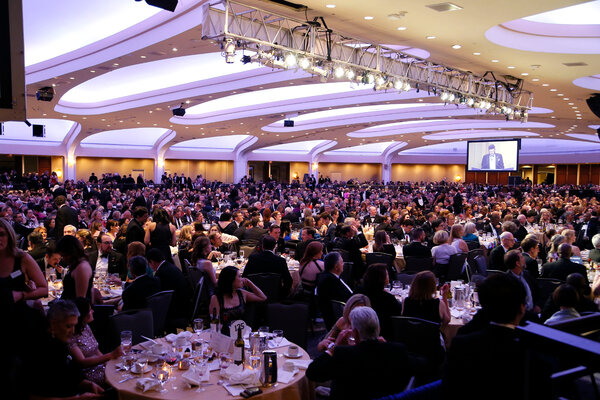 The White House Correspondents' Association Dinner at the Washington Hilton in 2019, the last time it was held.