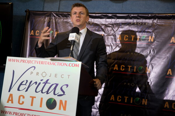 In 2015 James O'Keeffe, founder of the conservative group Project Veritas.