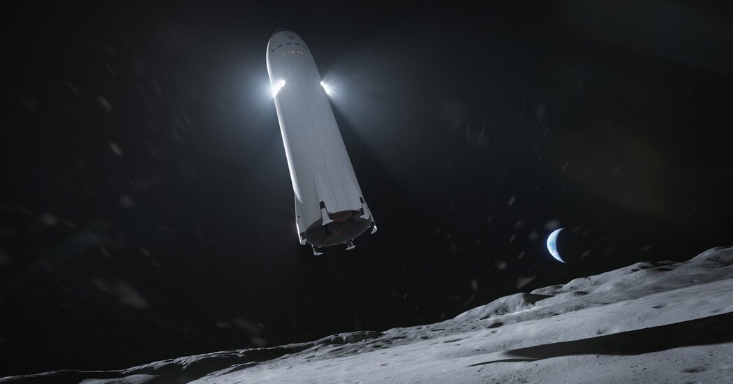 SpaceX Wins NASA .9 Billion Contract to Build Moon Lander