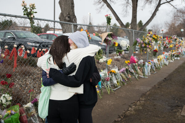 A memorial in Boulder, Colo., last month, when 10 people were killed at a grocery store.