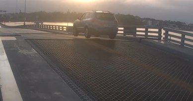 Photo of SUV Driver Jumps a Rising Drawbridge in Florida [Watch Video]