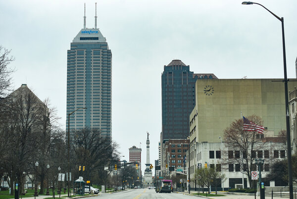 Downtown Indianapolis last month.