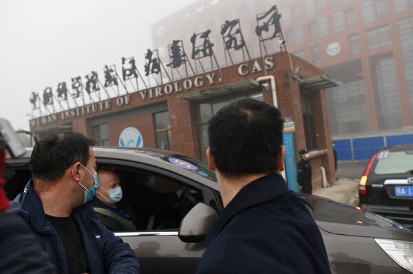 Members of the World Health Organization's team investigating the origins of the coronavirus arrived at the Wuhan Institute of Virology last month.