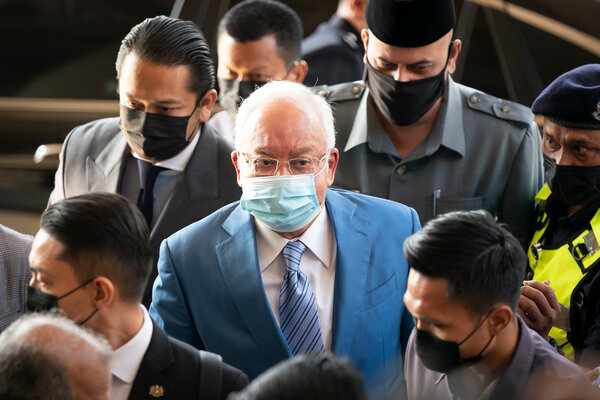 Najib Razak, a former prime minister of Malaysia, arriving in court in Kuala Lumpur last month.