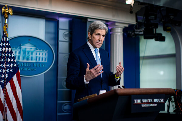 Special Presidential Envoy for Climate John Kerry spoke to reporters at the White House last week.