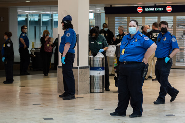 Transportation Security Administration officers at Minneapolis St. Paul International Airport last week.