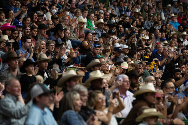 Over a thousand people gathered to watch the Stockyards Championship Rodeo in Fort Worth, Tex., last month.