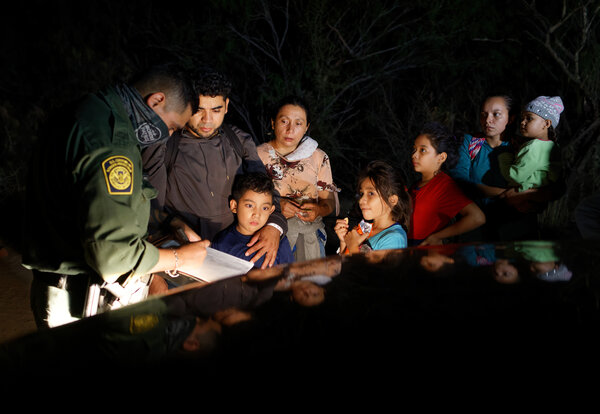 Migrants who crossed the border into Roma, Texas, last month. President Biden's immigration plan would provide a pathway to citizenship for an estimated 11 million undocumented immigrants.
