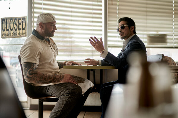 "Dave Bautista and Hiroyuki Sanada in ""Army of the Dead,"" Netflix's upcoming zombie flick."
