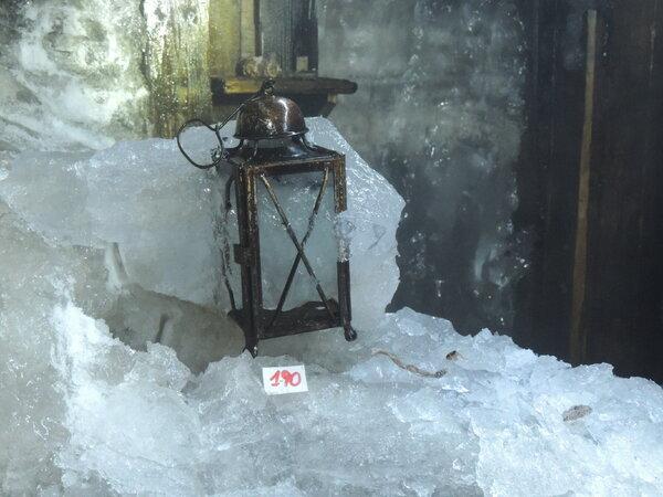 Artifacts in the barracks at Mount Scorluzzo were found frozen in ice.