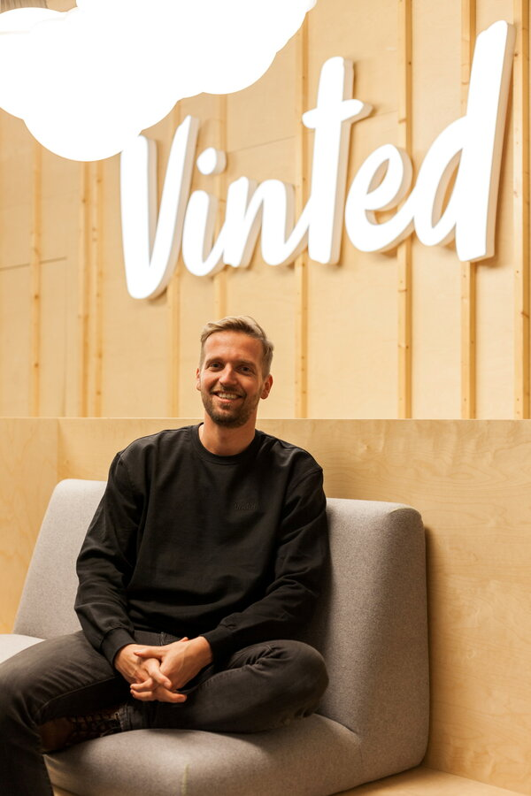 Thomas Plantenga, Vinted's chief executive, in 2019. The company, an online marketplace for secondhand clothes, recently raised funding that put its valuation at .24 billion.