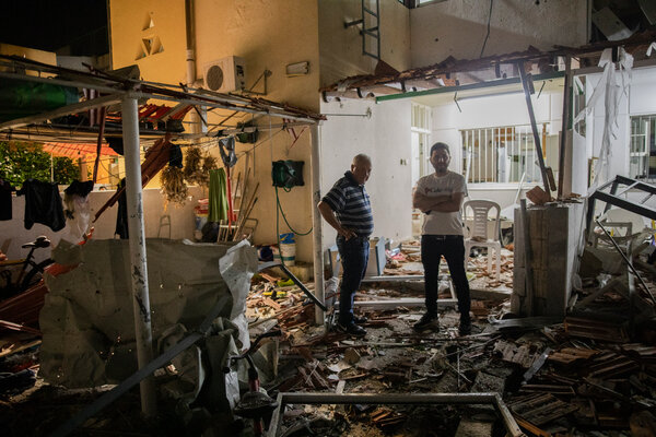 A damaged house in Ashkelon, Israel, on Wednesday.