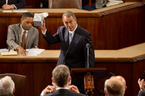 Speaker John A. Boehner delivered farewell remarks shortly before the House was set to elect Representative Paul D. Ryan as the new Speaker in 2015.