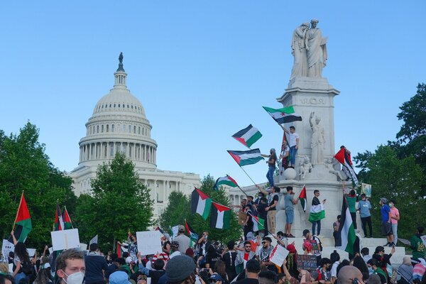A pro-Palestinian protest near the U.S. Capitol in Washington on Saturday.