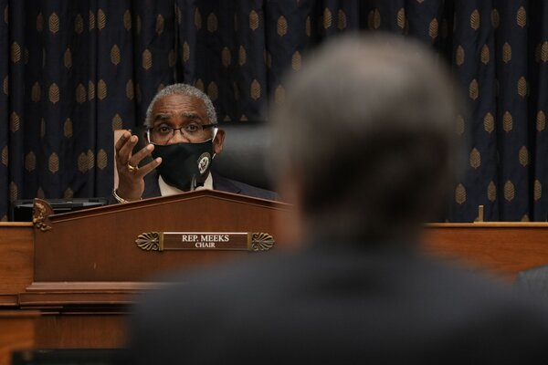 Representative Gregory Meeks, Democrat of New York and chairman of the House Foreign Affairs Committee, during a hearing in March.
