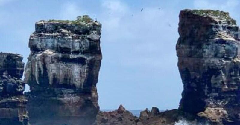Darwin's Arch, a Famed Rock Formation in the Galápagos, Collapses