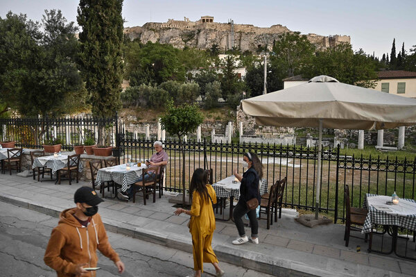 Tourists in Athens this month. New European rules for travelers could go into effect as early as next week.