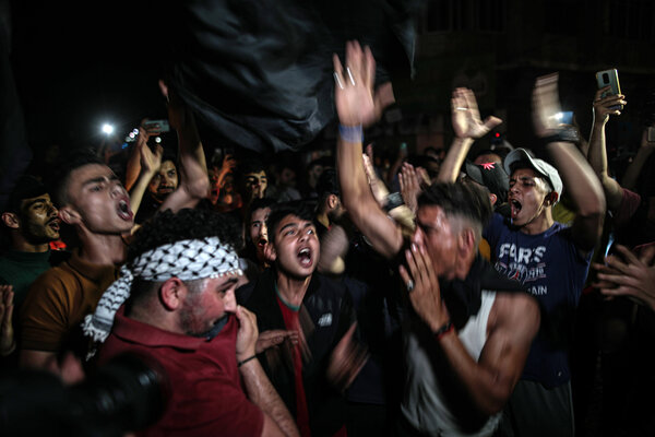 Palestinians took to the streets and celebrated in Gaza after the cease-fire was announced.