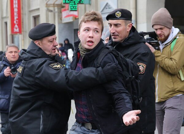 Roman Protasevich is a co-founder of a channel on the social media app Telegram that become a popular conduit for PresidentAleksandr Lukashenko's foes to share information and organize demonstrations.