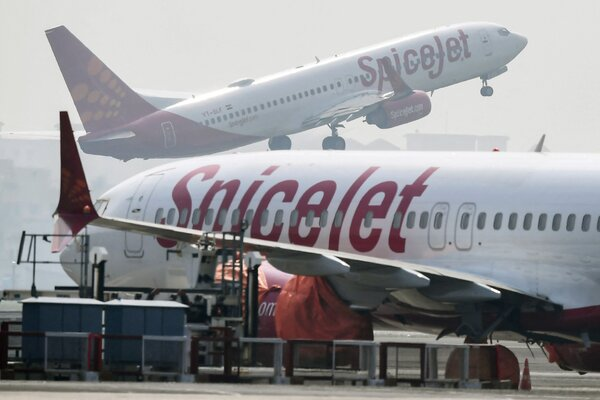 The couple chartered a plane operated by SpiceJet, an Indian carrier.