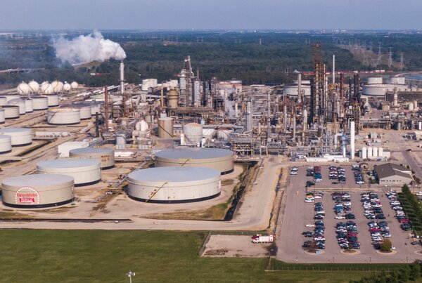 An Exxon Mobile oil refinery in Channahon, Ill. Shareholders say the oil giant should invest more heavily in renewables like wind and solar energy.