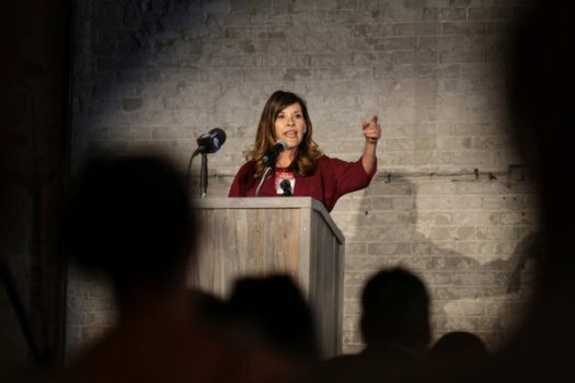 """Lt. Gov. Janice McGeachin in Idaho Falls last week. Her ordersaid that wearing masks had done """"significant physical, mental, social and economic harm"""" and that they failed to serve a health or safety purpose."""