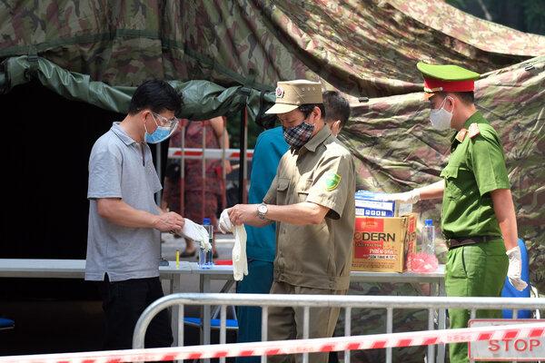 A quarantine area in Hanoi, Vietnam, on Wednesday.
