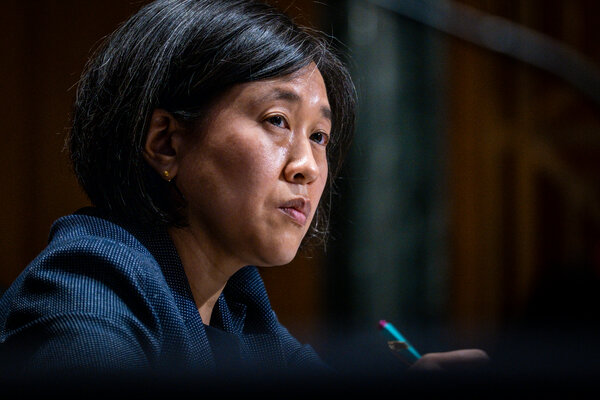 """Katherine Tai, the United States trade representative, said the actions """"provide time for those negotiations to continue to make progress."""""""