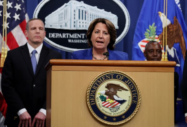 Deputy Attorney General Lisa Monaco, center, described how the feds hacked the hackers.
