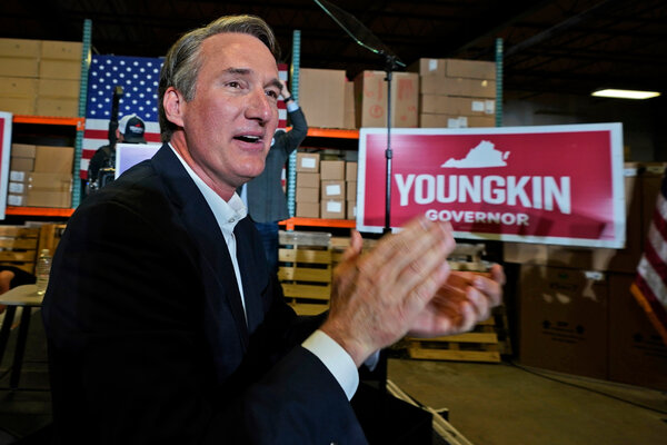 Glenn Youngkin, a Republican candidate for governor, at an event in Richmond, Va., last month.