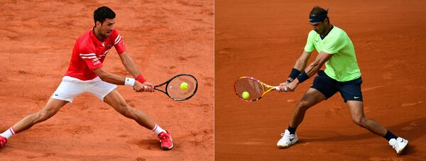 Both Djokovic, left and Nadal have only encountered fleeting adversity on their way to the semi-finals.