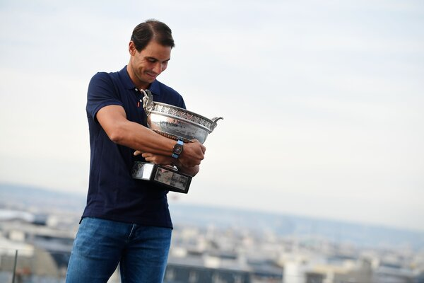 Nadal routed Djokovic in straight sets in a lopsided 2020 French Open final to win the Coupe des Mousquetaires.