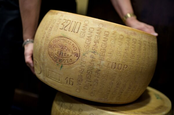 Parmigiano Reggiano Parmesan cheese in Saluzzo, near Turin, Italy. The United States and the European Union will discuss backing off tariffs on goods like cheese, wine and aircraft in Brussels next week.