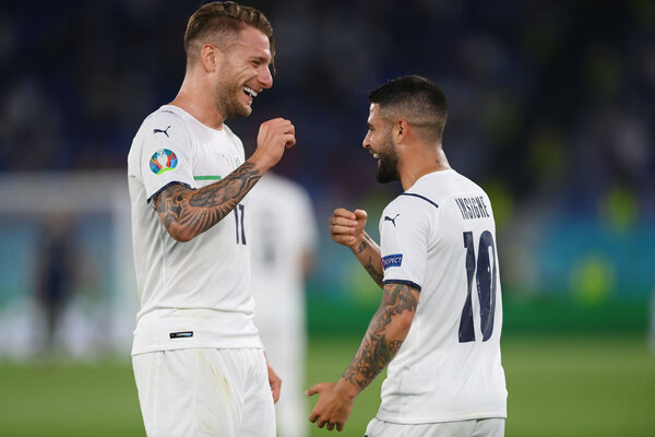 Italy's Ciro Immobile and Lorenzo Insigne got a head start in the race for the Golden Boot on Friday.